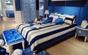 蓝色系列儿童房墙纸效果图