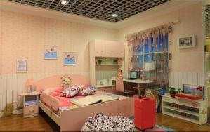 儿童房窗帘效果图家具订制