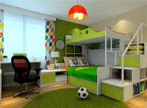 活泼两个孩子儿童房设计