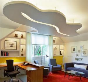转角设计的家庭书桌