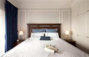 中式实木床床品搭配