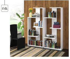 白色立式书柜图片