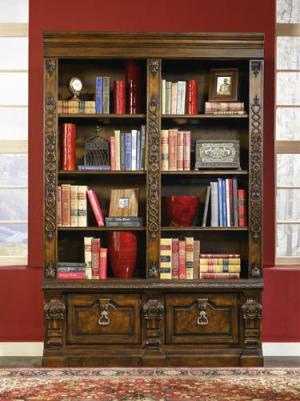 雕花立式书柜