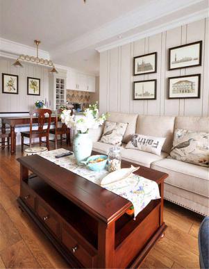 小户型现代客厅茶几图片