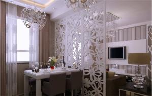 温馨客厅屏风柜
