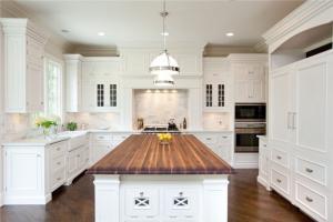 别墅开放式厨房橱柜作品