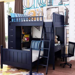 家居多功能组合儿童床书桌