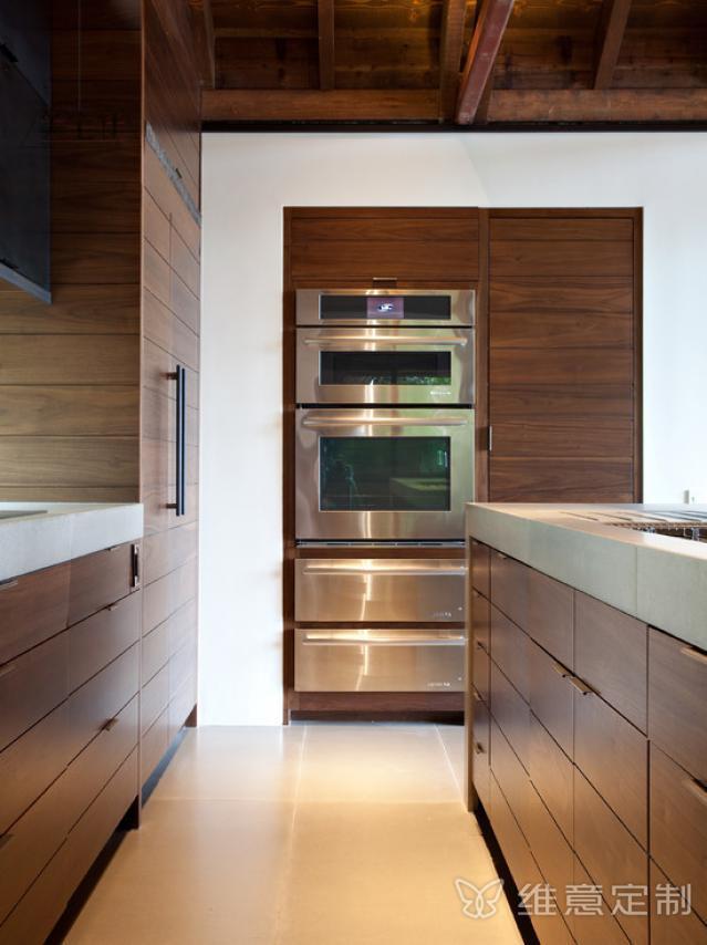 开放式厨房隐形门维意设计