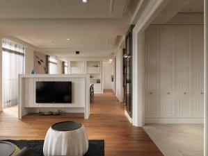 客厅电视墙效果图板材家具