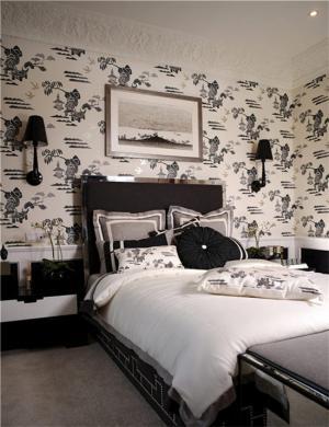 卧室儿童床黑白色搭配