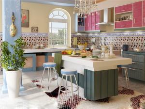 瓷砖厨柜整体效果图