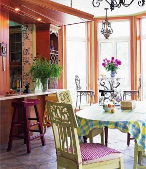 欧式客厅餐桌椅
