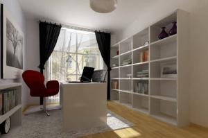 现代简约书房装修效果图板