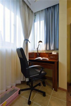 阳台改书房效果图设计实景图