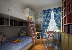 经典美式儿童书房装修效果图
