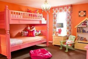 起居室卧室高低床装修效果