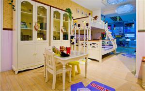 两个孩子儿童房设计配套家具
