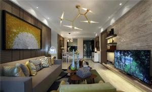 客厅电视墙效果图设计案例