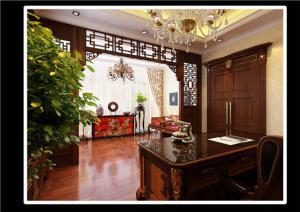 中式风格家用书桌定制