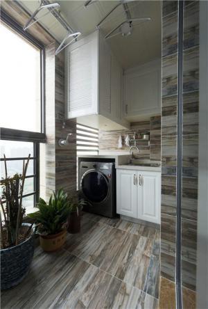 阳台洗衣池效果图放置