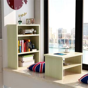 飘窗小榻榻米书柜