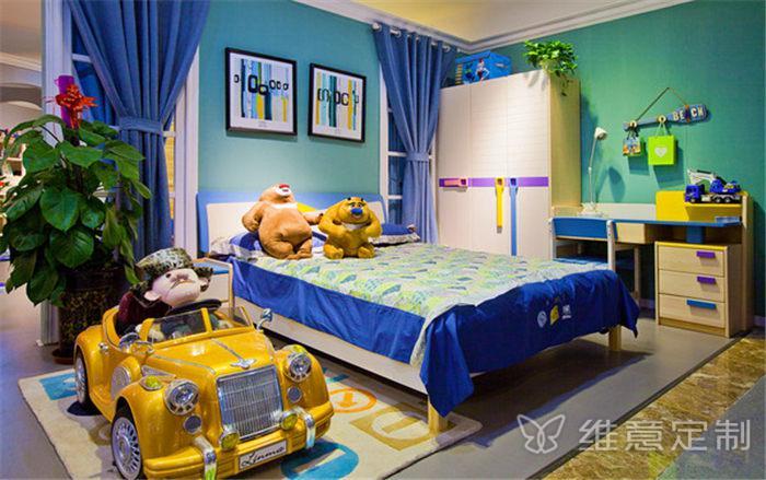 蓝色儿童房颜色