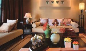 小清新客厅布艺沙发