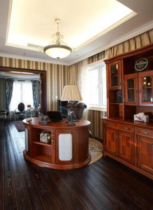 美式古典书房装修效果图高