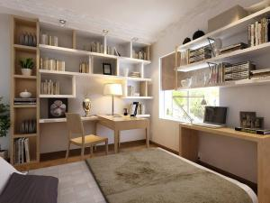 现代韩式家庭书房装修效果图
