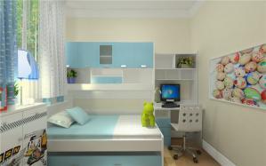 三室一厅小孩书房装修效果图