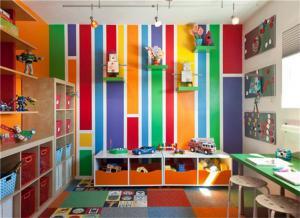 五彩小孩书房装修效果图