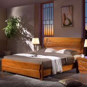 北美胡桃木中式实木床