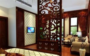 美式客厅隔断柜设计