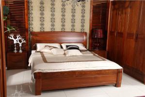 中式实木床搭配
