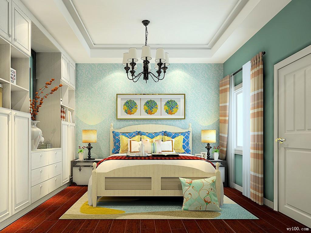 纽唐系列卧房效果图 13�O美观且大方_维意定制家具商城