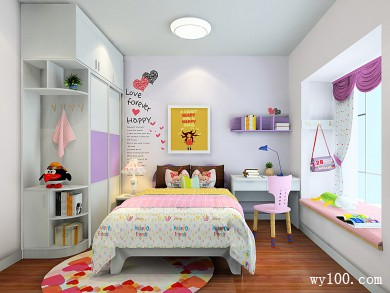 波艾系列儿童房效果图10�O温馨浪漫