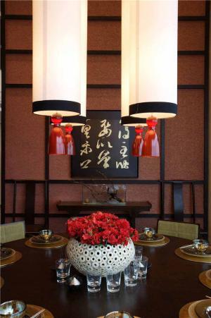 ��木中式餐桌