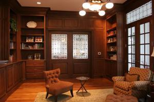 别墅设计效果美式书房装修