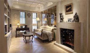 两室两厅主卧欧式书房装修效果图