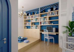 地中海风格小书房装修效果