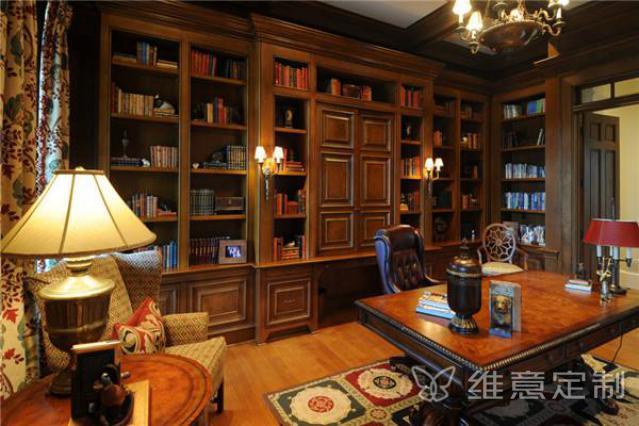 欧式书房装修效果图图册