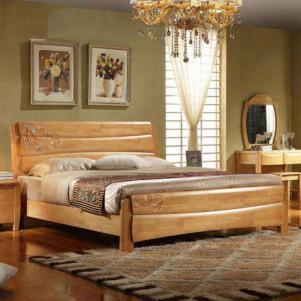 现代时尚中式实木床