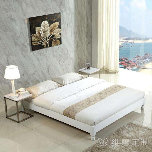 白色实木榻榻米床