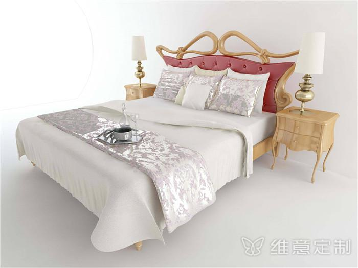 欧式床家具模型