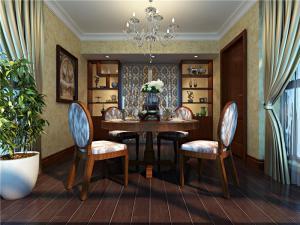 美式长方形餐桌图片