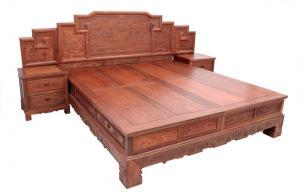 红木的家具床