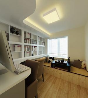 130平三居室家庭书房装修效果图