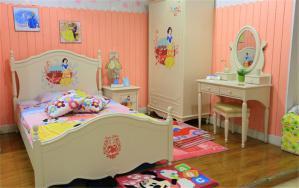 彩色卧室儿童床
