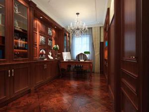 别墅家居古典书房装修效果