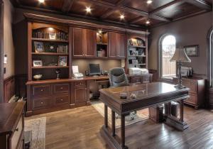 欧式书房装修效果图全套家具搭配